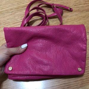 Pink Clutch / Crossbody Handbag
